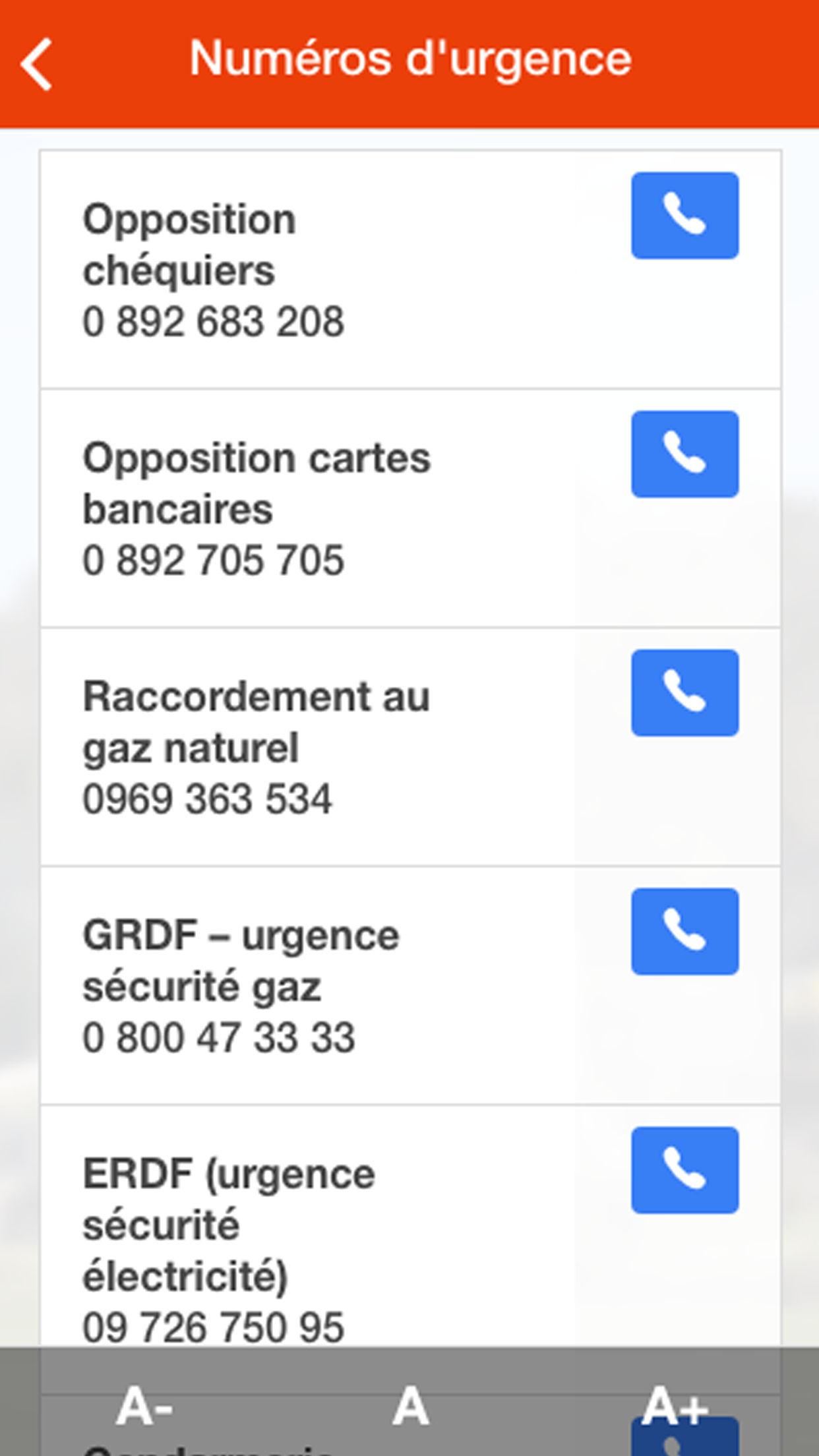 Mymairie - Appli mymairie de la mairie d'Amenucourt - les numéros d'urgence