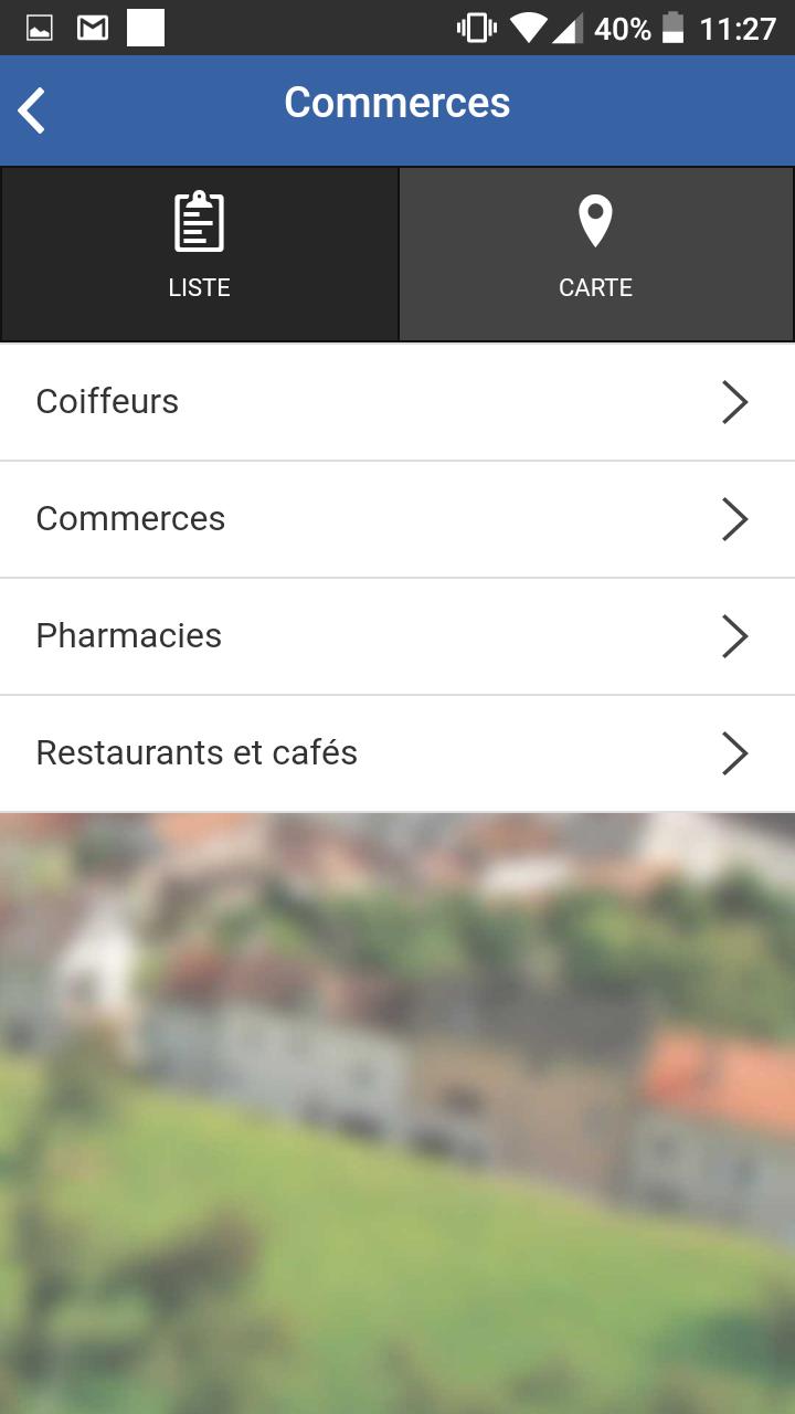 les commerces de la commune d'Andilly sont dans l'application mobile