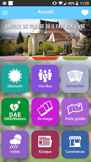 application mobile de la commune Andilly