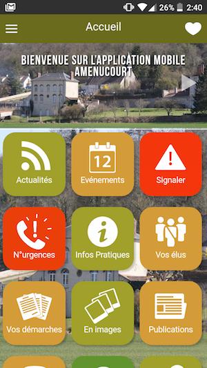 Mymairie - Appli mobile de la mairie d'Amenucourt