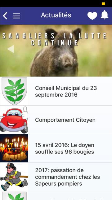 Appli mobile mairie Eschbach-au-Val - mymairie