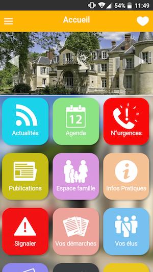 Appli mobile de la ville de Chaumontel - mymairie